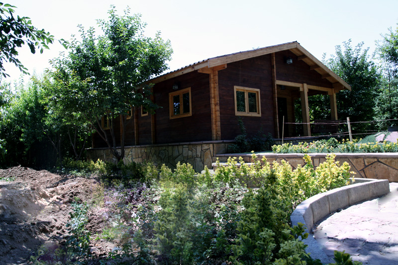 خانه چوبی 75 متری هشتگرد