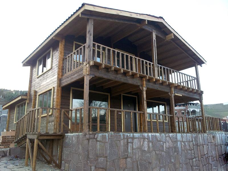 ویلای چوبی دوبلکس 135 متری کلاردشت