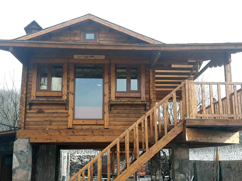 کلبه چوبی پیش ساخته 45 متری رودبار